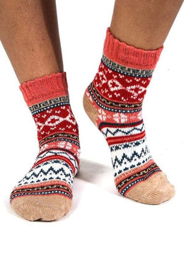 Assorted Diamond Zig Zag Socks