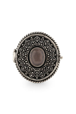 Assorted Gemstone Locket Ring