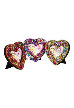 Assorted Glitter Heart Frame
