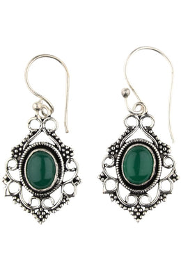 Assorted Natural Stone Ornate Earrings