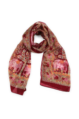 Assorted Paisley Mixed Prints Silk Scarf