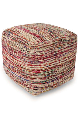 Assorted Wool Ottoman