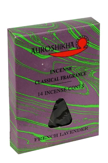 Auroshikha Incense Cones - French Lavender