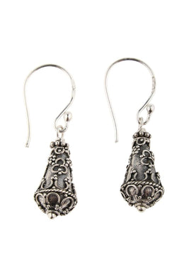 Balinese Texture Club Silver Earrings
