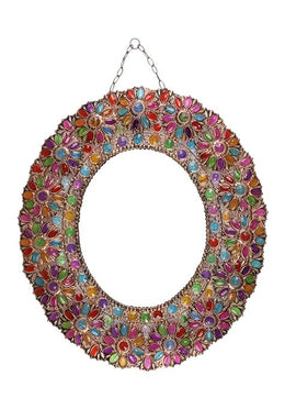 Beaded Multi Colour Mirror