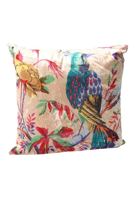 Beige Bird Cushion