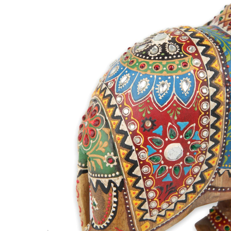 Bejeweled Wooden Elephant
