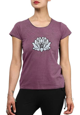 Berry Lotus Yoga Tee