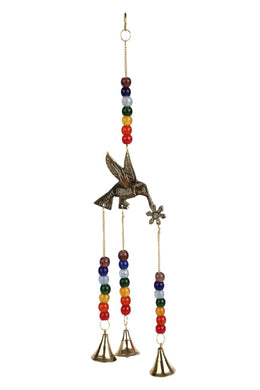 Bird And Flower Hanging Bells
