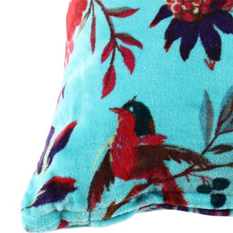Bird Of Paradise Velvet Cushion