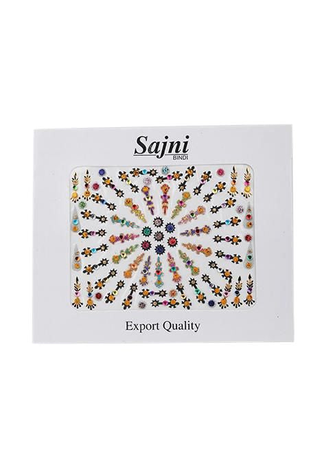Black And Colour Bindi Multipack