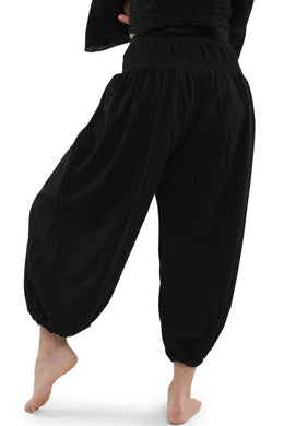 Black Harem Pocket Pants