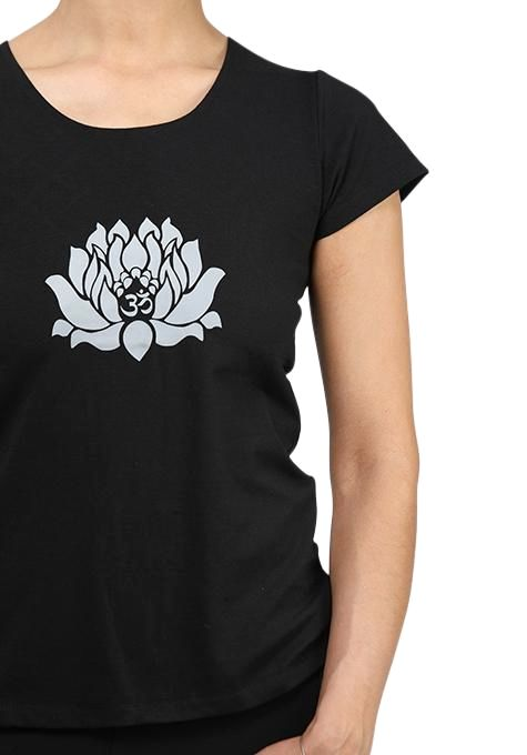 Black Lotus Yoga Tee