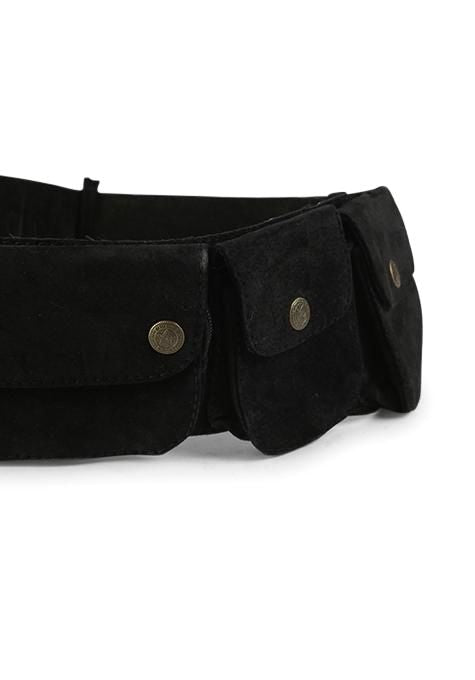 Black Pocket Festival Belt