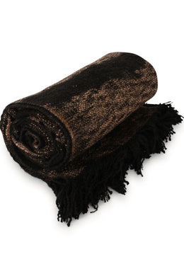 Black Raja Throw Rug