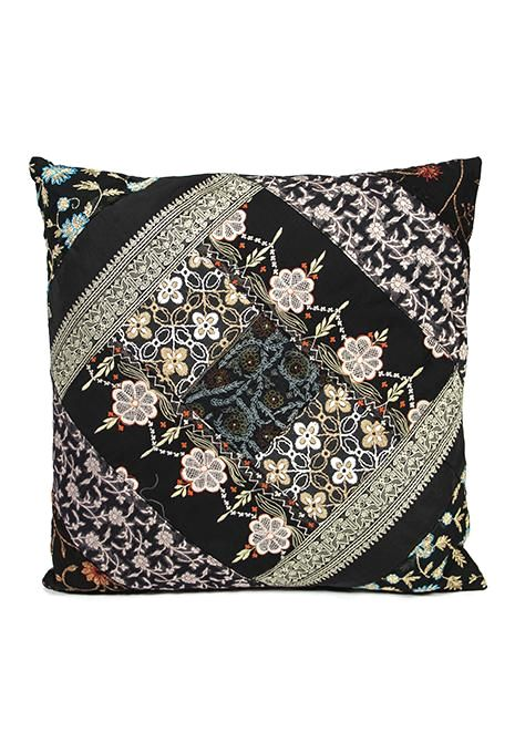 Black Sari Cushion