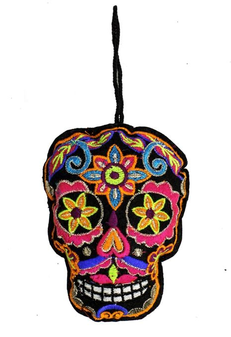 Black Skull Ornament