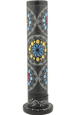 Black Stone Mandala Incense Pipe