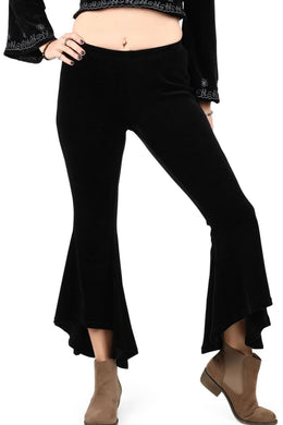 Black Velvet Bell Bottom Pants