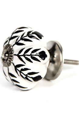 Black & White Ceramic Knob