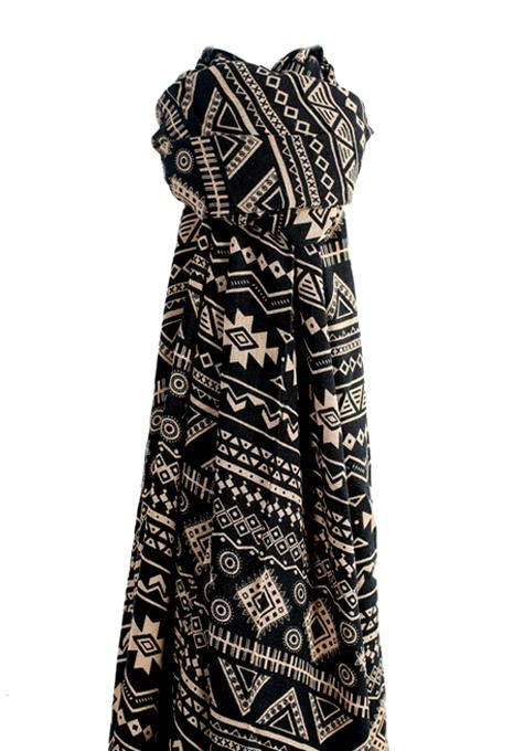 Black & White Tribal Sarong