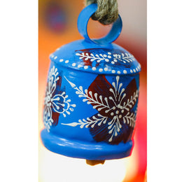 Blue Handpainted Bell