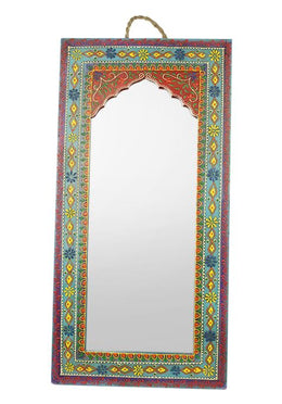 Blue Handpainted Mehrab Mirror