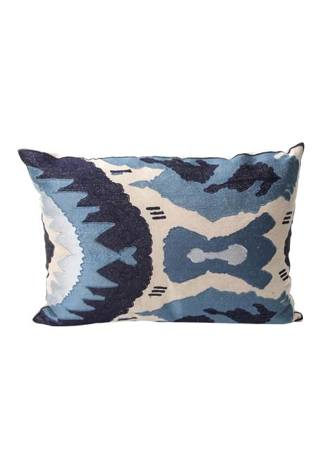 Blue Ikat Cushion