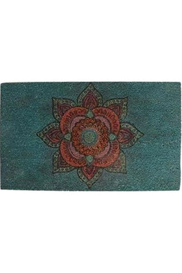 Blue Mandala Coir Door Mat