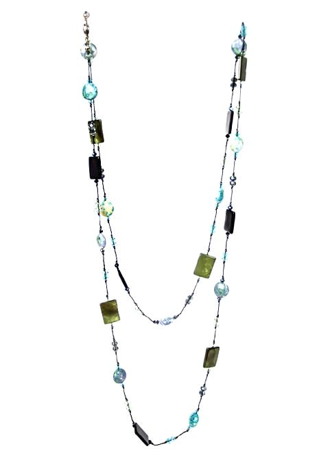 Blue Natural Stone Necklace
