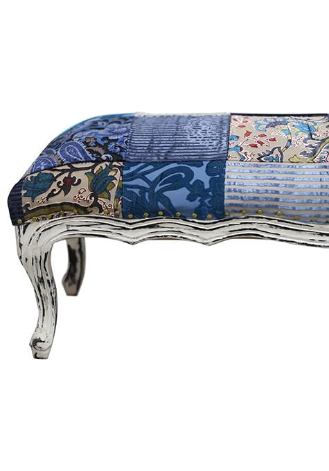Blue Patchwork Bench