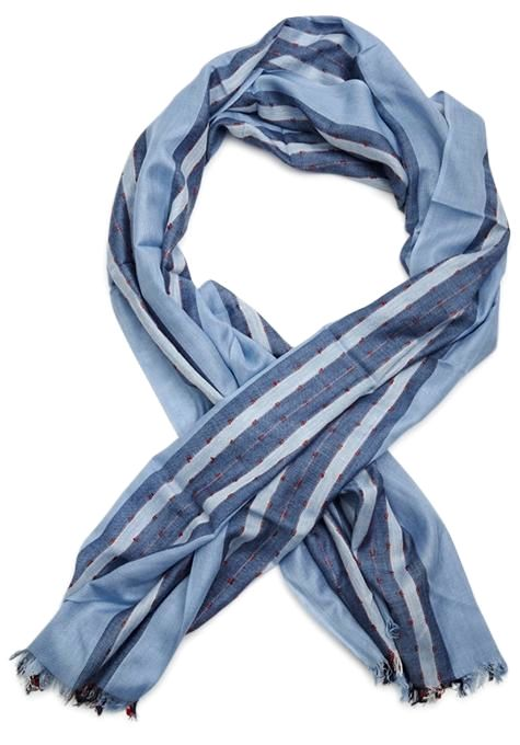 Blue & Pink Striped Scarf