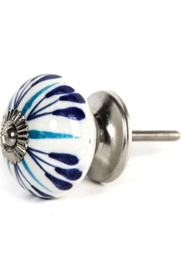 Blue Streak Ceramic Knob