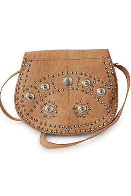 Boho Leather Stud Side Bag