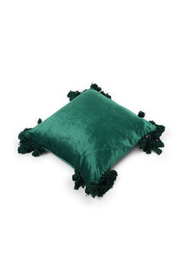 Boho Velvet Fringe Cushion