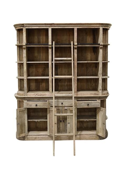 Bookcase Library Plus Ladder Natural 200X40X230Cm
