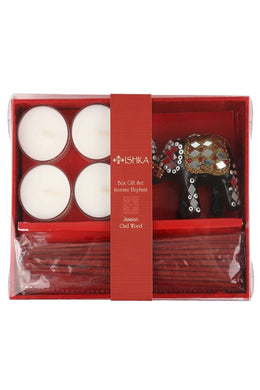 Box Gift Set Incense Elephant Jasmine Oud Wood