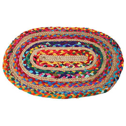 Braided Oval Chindi Rug