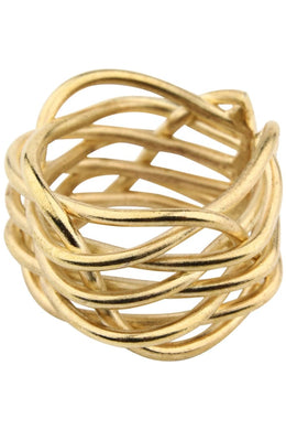 Brass Adjustable Wire Woven Ring