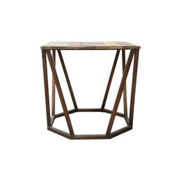 Brass Base Side Table
