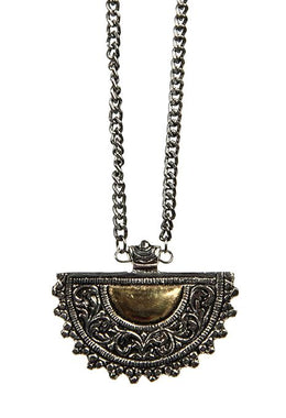 Brass Plate Necklace