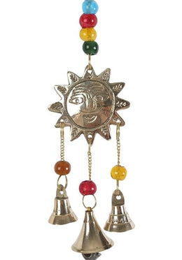 Brass Sun With Bells