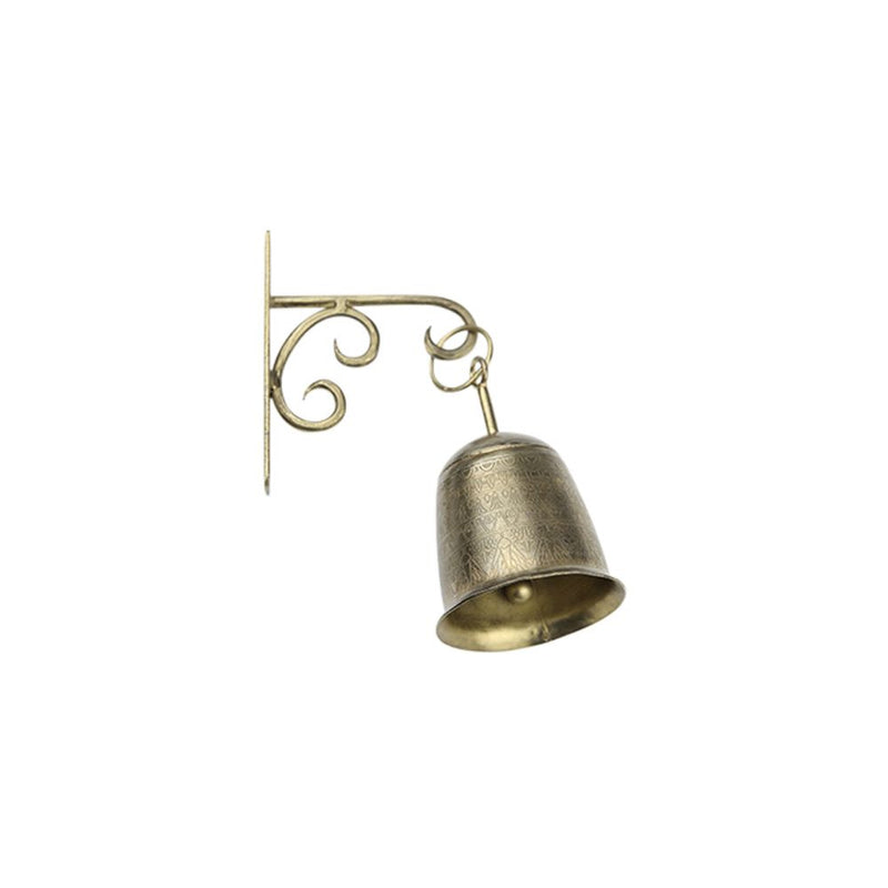Brass Wall Hook & Bell