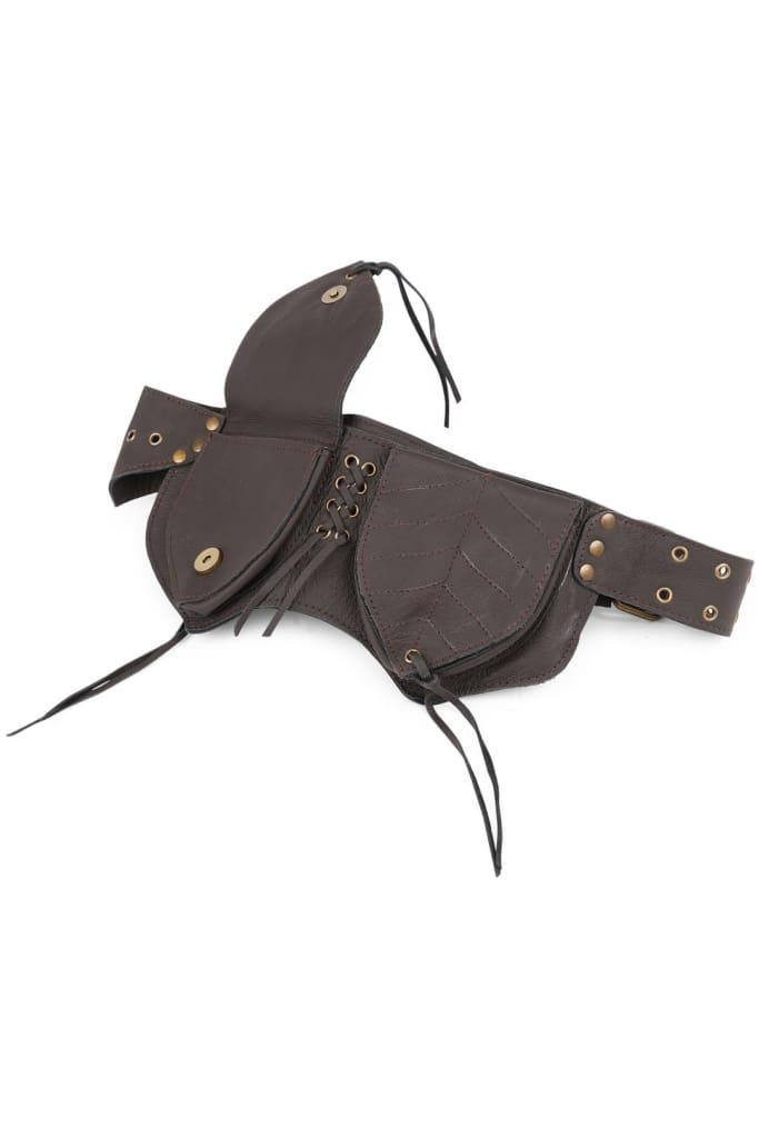 Brown Leather Festival Belt