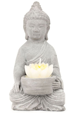 Buddha & Lotus Candle Holder