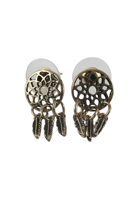 Burnt Gold Dreamcatcher Studs