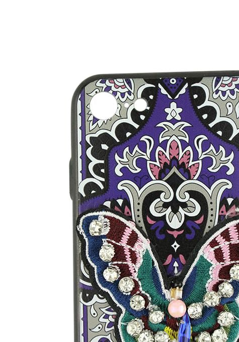 Butterfly Beaded Iphone Cover