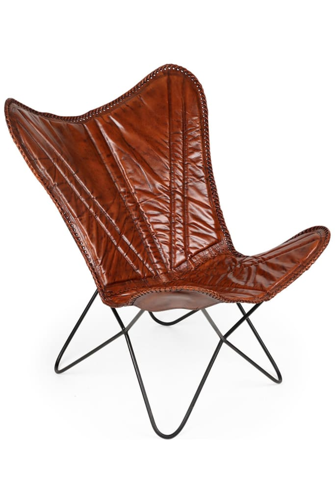 Butterfly Leather Deck Chair