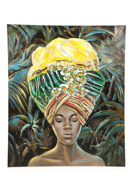 Caribbean Woman Oil Painting Canvas