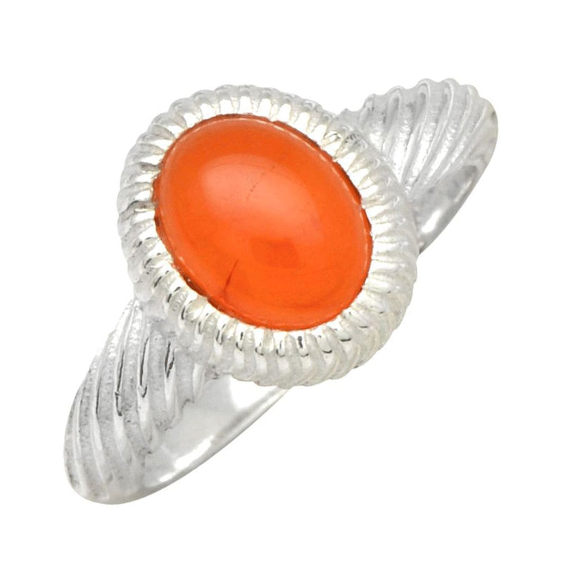 Carnelian Twisted Band Ring